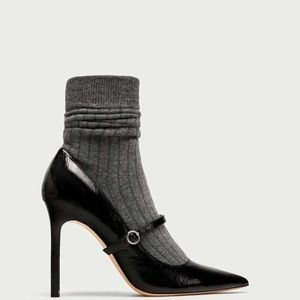Black Sock Pumps by Zara